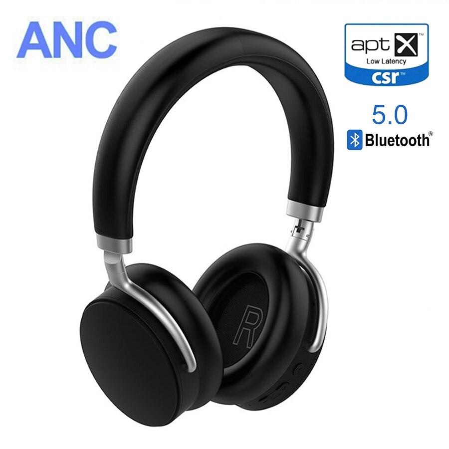 VIKEFON AptX faible latence/Aptx LL casque Bluetooth ANC 5.0 casque sans fil écouteur avec bruit actif annuler 20 H de temps de travail