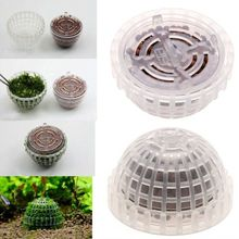 Aquarium Fish Tank Plastic Moss Ball Filter Live Plant Holder Aquatic Exquisite Decorations Ornament Pet Supplies