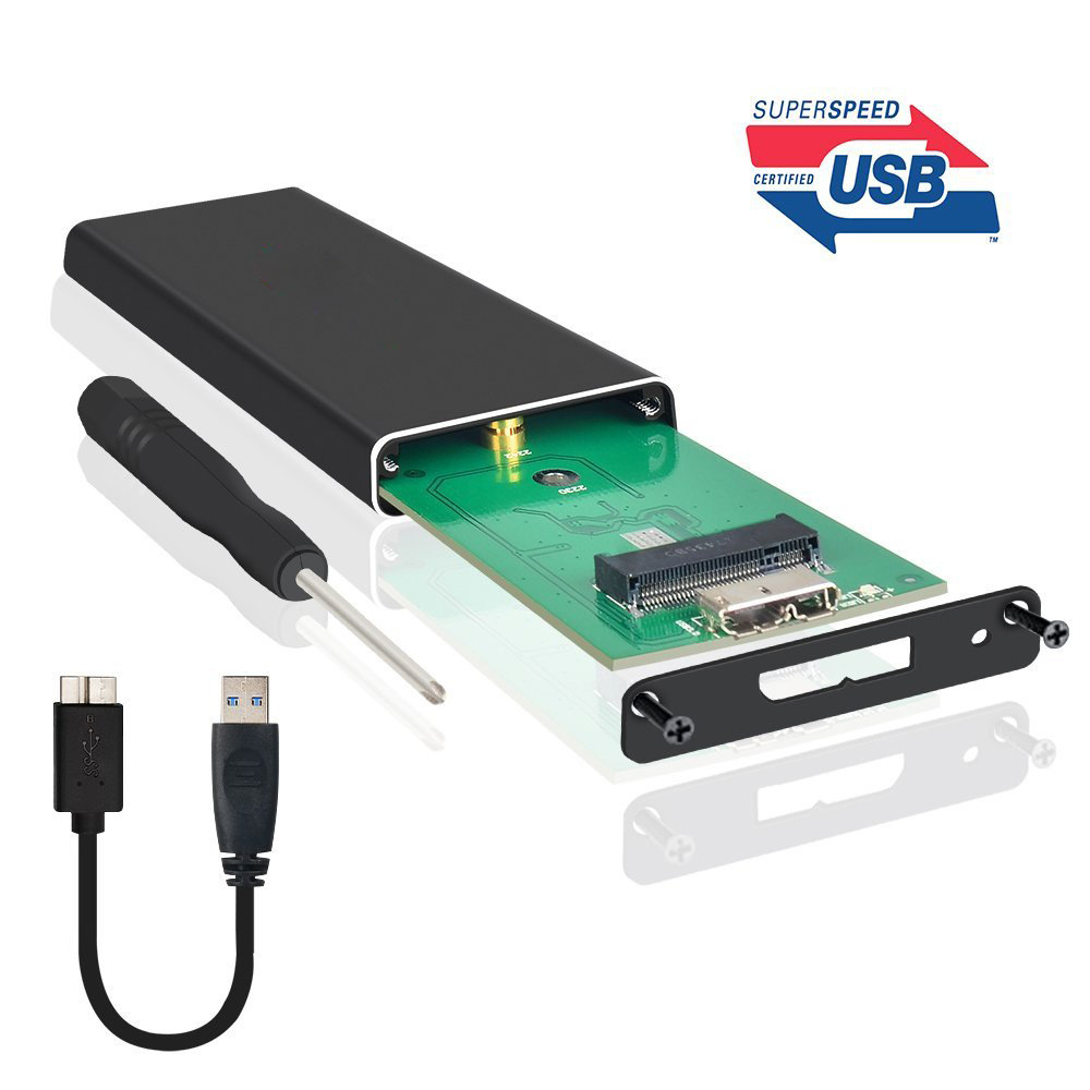 M.2 NGFF Portable SSD Enclosure USB 3.0 Case SATA Based B Key Solid State Disk Adapter Converter Support 2230 To 2280|HDD Enclosure| |  - title=