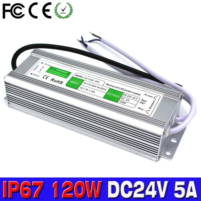 Dc power supply 24v 5a 120w waterproof ip67 led driver electronic dc power supply 24v 5a 120w waterproof ip67 led driver electronic lighting tansformers for outdoor lighting workwithnaturefo