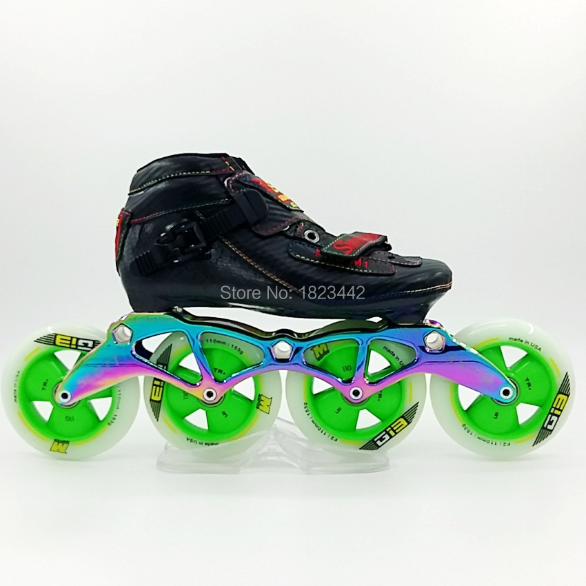 SIMMONS M1 A carbon fiber American speed skating font b shoes b font adult children game