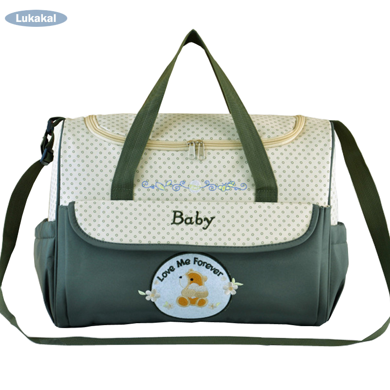 Large Capacity Baby Diaper Bag WaterProof Mother Maternity Bag Fashion Dot Baby Stroller Nappy Bag Mummy Tote Hobos bag