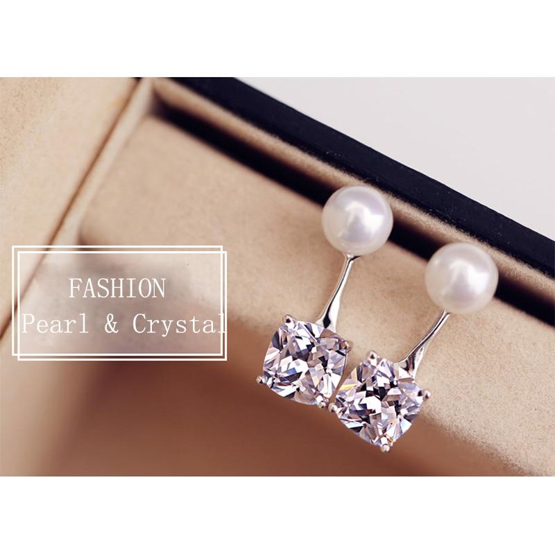 Venta caliente de moda de lujo de perlas de cristal Stud pendientes - Bisutería - foto 2