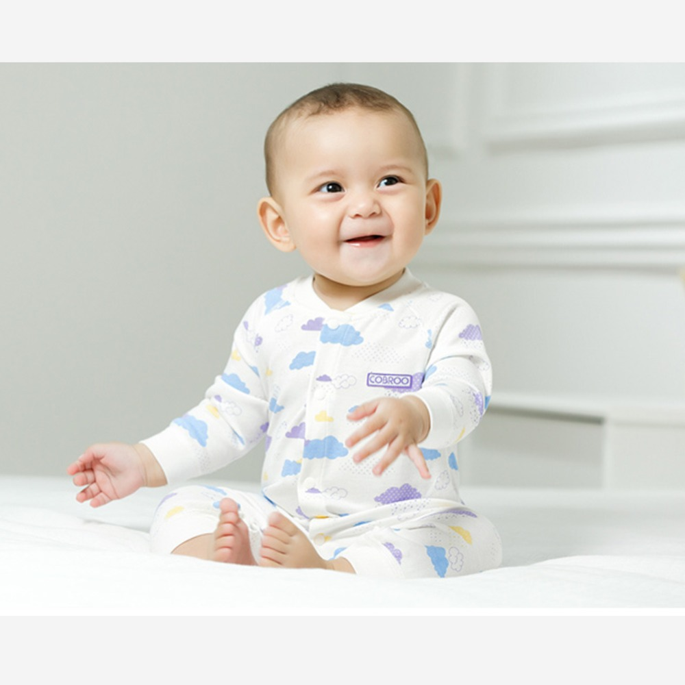 COBROO Unisex-Baby pajacyki bawełniane w chmurze z długim rękawem - Odzież dla niemowląt - Zdjęcie 2