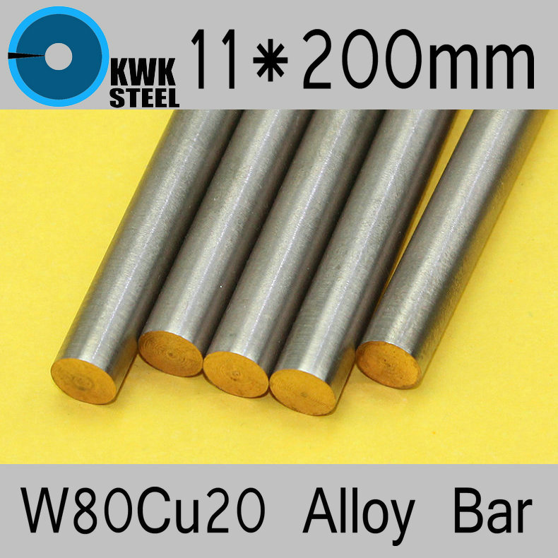 11*200mm Tungsten Copper Alloy Bar W80Cu20 W80 Bar Spot Welding Electrode Packaging Material ISO Certificate Free Shipping free shipping iso