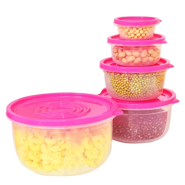 Genial Food Storage Container Set Plastic BPA Free Lids Leak Resistant Transparent  Practical