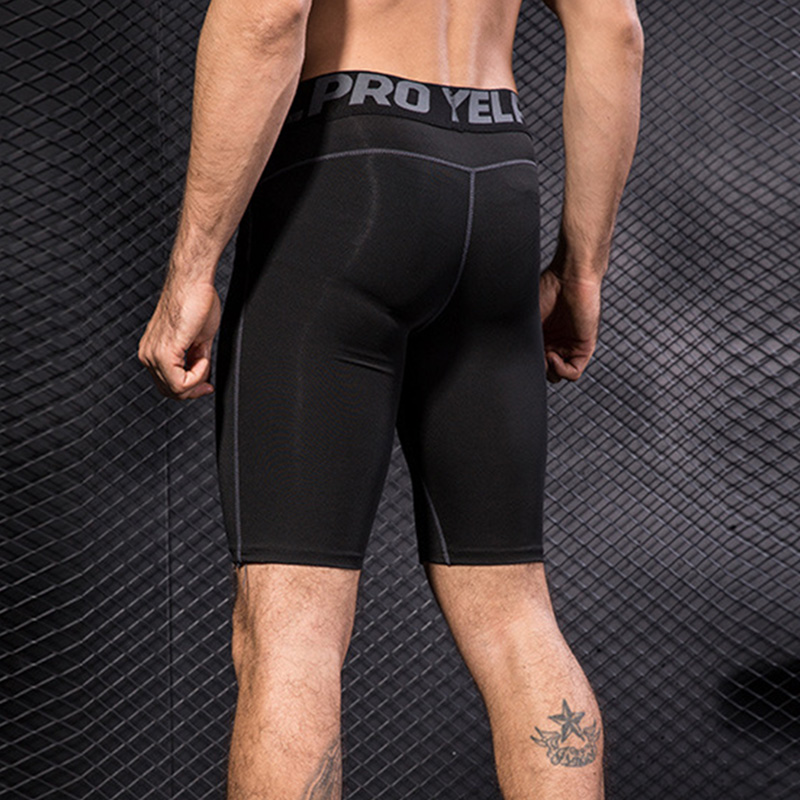 New Hot Men Gym Compression Shorts Pants Sports Breathable Quick-drying Tights Slim Fitness YAA99