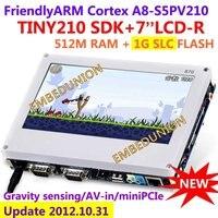 Comprar FriendlyARM S5PV210 corteza A8 Placa de desarrollo TINY210 SDK + 7 pulgadas resistencia pantalla táctil 512 MRAM + 1G SLC Flash Android4.0