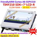 FriendlyARM S5PV210 Cortex A8 Development Board , TINY210 SDK+7inch Resistance Touch Screen,512MRAM +1G SLC Flash, Android4.0