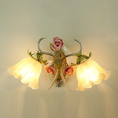 aliexpress com buy led wall ls country style floral 15271 | led wall ls country style floral flower design wall lights wall sconces fixture for bedroom home