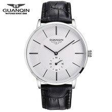 Bj001 guanqin original reloj de los hombres reloj mecánico de la marca de lujo casual de negocios de moda de cuero reloj de pulsera hombre relojes reloj