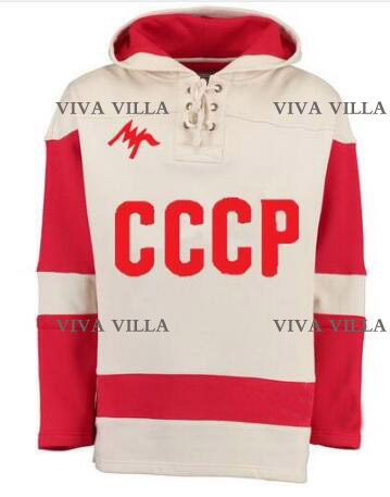 Cccp Hoodie Custom Any Number Any Number Hockey Jersey Stitched CCCP RUSSIA Movie Throwback Ice Hockey Jerseyy Viva Villa hockey jersey custom any name any number high quality stitched logos men throwback ice hockey jersey s 4xl free shipping