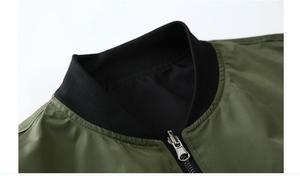 Image 3 - Grandwish/куртка бомбер для мужчин, пилот с заплатками, зеленая, Двусторонняя одежда, тонкий пилот бомбер, Мужская ветровка, куртка для мужчин, DA113