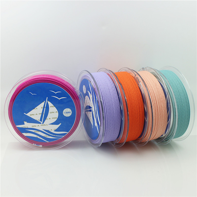 1mm Silk thread milan cord DIY Jewelry packing shoes rope Necklaces Bracelets cords rope line 39 colors 15 meters roll in Jewelry Findings Components from Jewelry Accessories