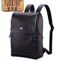 100% коровьей рюкзак pabojoe бренд 2018 новый мужской моды супер мягкий плечи пакет Пояса из натуральной кожи Mochila Бесплатная доставка
