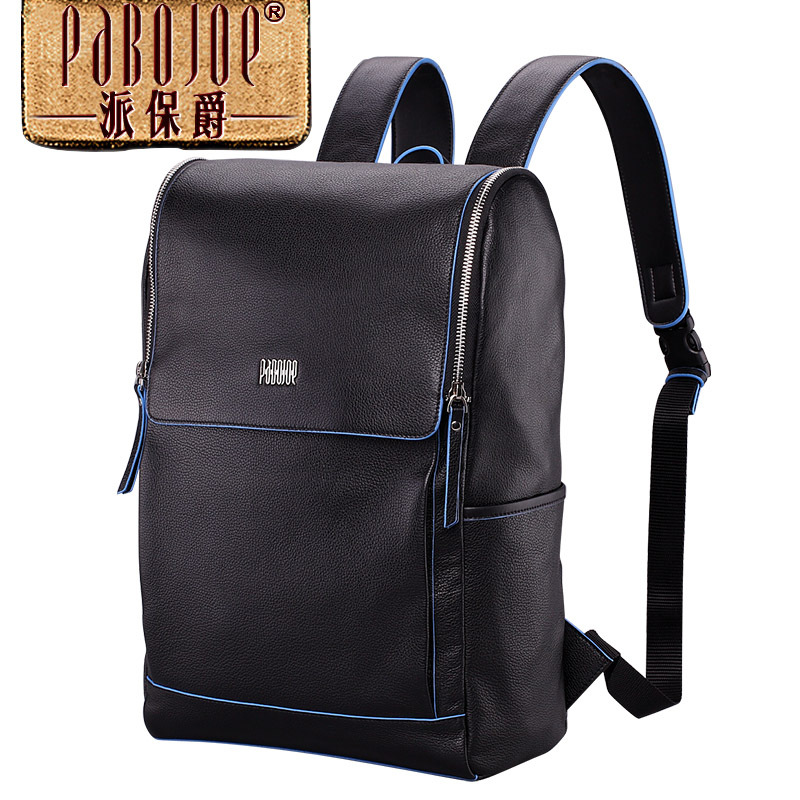 100% cowhide backpack pabojoe brand 2018 new men fashion Super soft shoulders package Genuine Leather mochila free shipping
