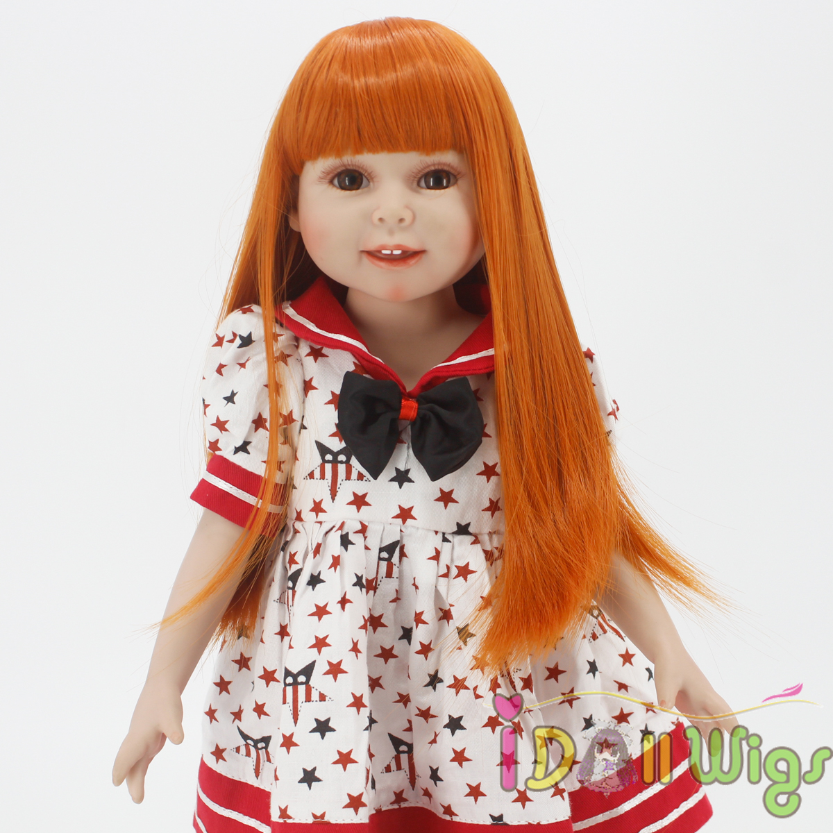 Wigs Only! Heat Resistant Synthetic Hair Wig for 18'' American Girl Dolls,Reborn Dolls with 10-11inch Head Safe Doll Accessories trendy adiors side bang medium heat resistant synthetic wig for women