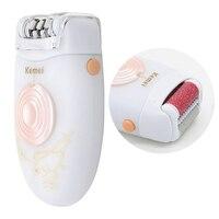 Top Sale Kemei KM 3076 2 In 1 Epilator Women Trimmer For Women Electric Epilator White