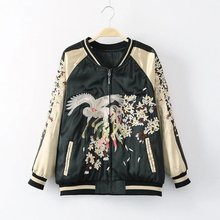 European Station the men and women jacket free shipping embroidery zipper pocket on both side wear long-sleeved clothes cotton