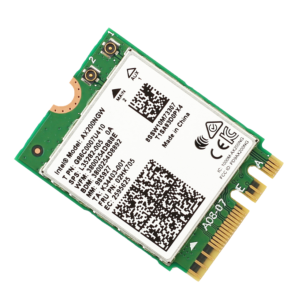 Image 4 - Dual band AX200NGW Wireless 802.11ac/ax Network Intel WiFi 6 AX200 Wlan NGFF Wifi Card 5G up to 2.4Gbps Bluetooth 5.0 + Antennas-in Network Cards from Computer & Office
