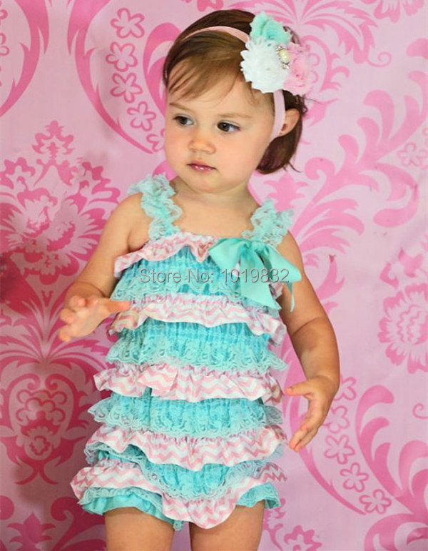 Baby Easter Day Romper Newborn Baby 1st Easter Romper Easter Outfit Baby  Aqua Pink Chevron Petti Romper Baby Clothes-in Rompers from Mother   Kids  on ... da3d0db15b66