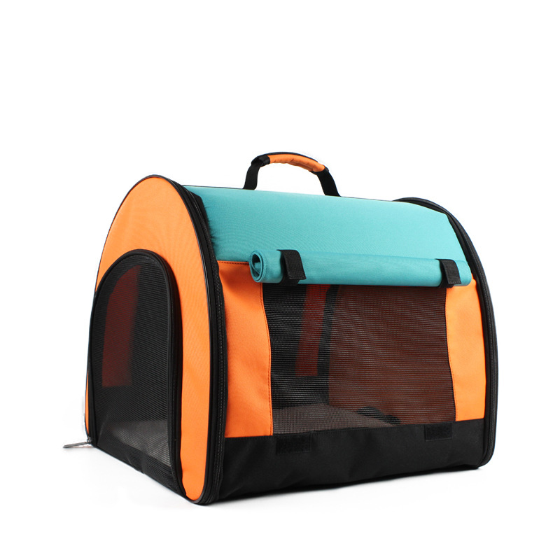 Travel Cat Bag Teddy Dog Kennel Tricolor Canvas Mesh Shoulder Oxford Breathable Folding Summer Fold Pet Tent Outdoor in Dog Carriers from Home Garden