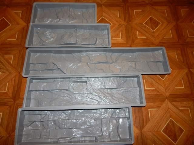 Set 5 moules en plastique pour béton plâtre mur pierre ABS carreaux béton  moule brique moule pour décoration de jardin