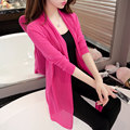 2016 spring summer air conditioning shirt women's medium-long long-sleeve loose sweater female cardigan outerwear