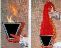 Multi cône-feu, tours de magie Scarve, magie de scène, gros plan, Illusions, magie de la soie, accessoires, jouets Magia blague classique