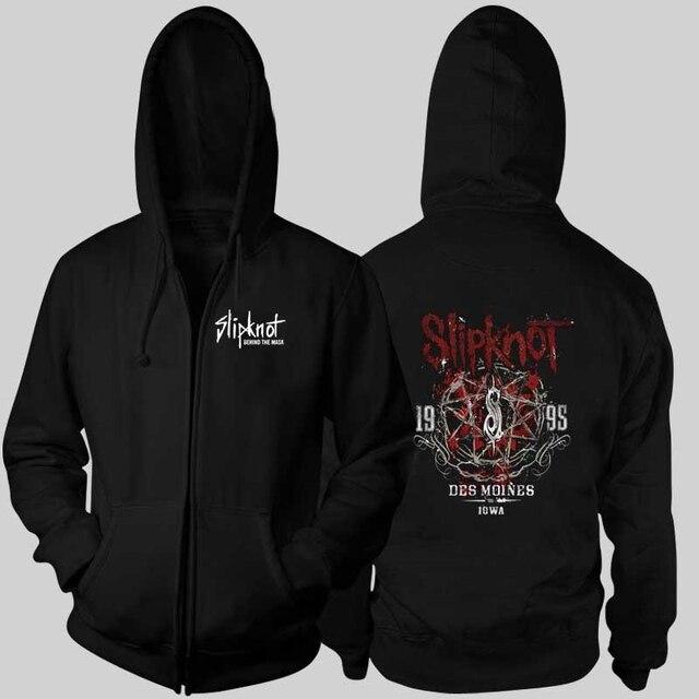 Хэви-метал группа узел Толстовки Толстовки Slipknot рок толстовка толстая капюшоном толстовка на молнии толстые зимнее пальто