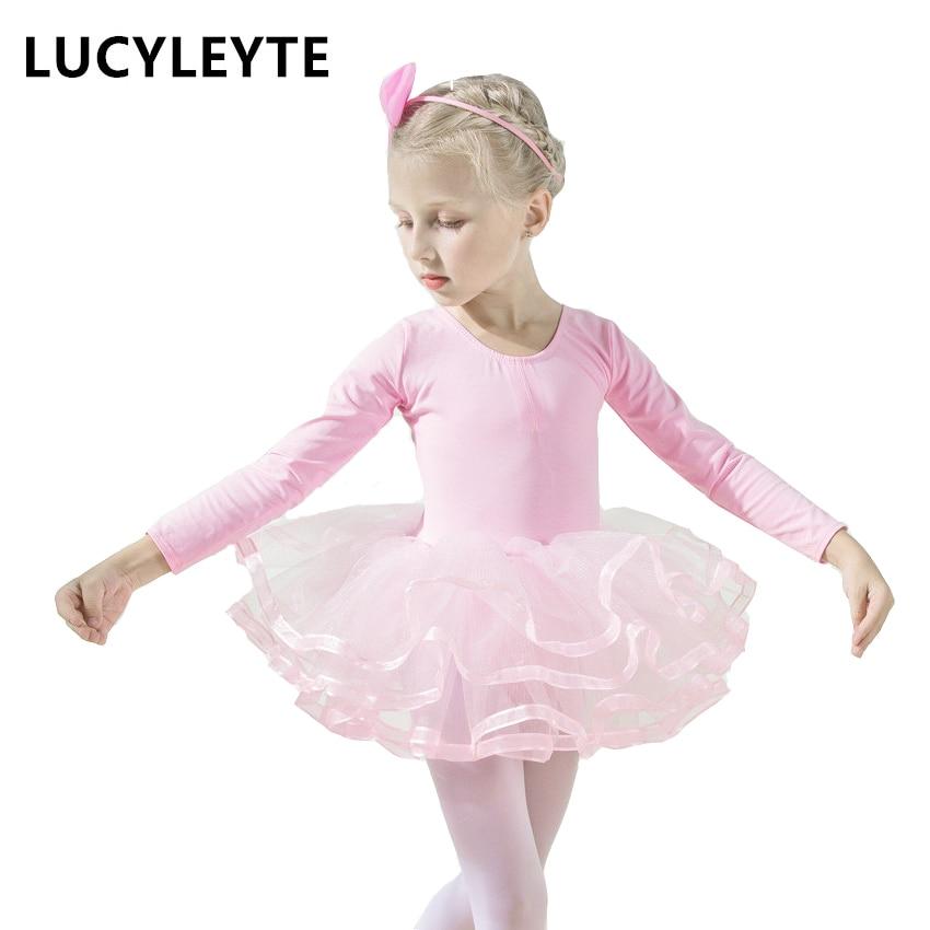 Children's dance clothes Long sleeve girl ballet skirt Children's exercise clothes ...