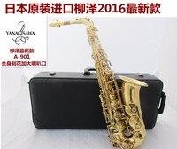 Japan Yanagisawa Electrophoresis Gold Sax Eb Alto Saxophone W01 A 901 Professional Brass Instruments Music Alto