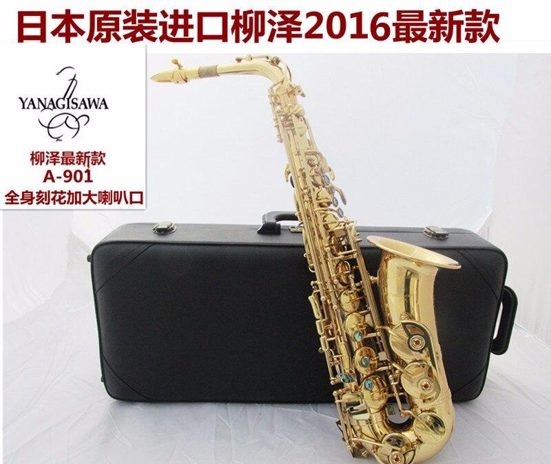 Japon Yanagisawa Électrophorèse Or Sax Eb Alto Saxophone W01 Un 901 Professionnel En Laiton Instruments Musique Alto Saxofone E Plat