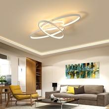 Brown/White Modern Chandelier LED For Living room Bed Aluminum Creative Home led Lighting fixtures