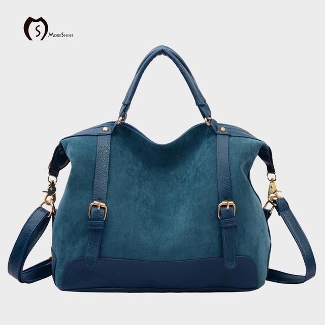 Nova MORESHINE marca bolsa de couro PU mulheres tote shopper bag bolsa de ombro fêmea sacos do mensageiro para Laides médio Hobos bolsas