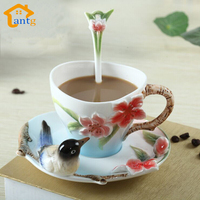 The Enamel Coffee Ceramic Cup Set Wedding Gifts Wedding Birthday Gift For Valentine S Day Special