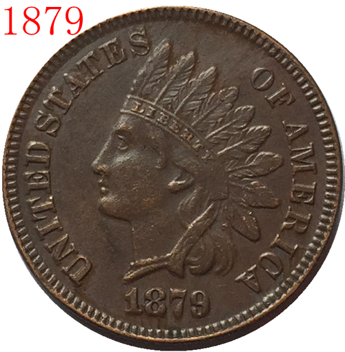 1879 Indian head cents coin copy