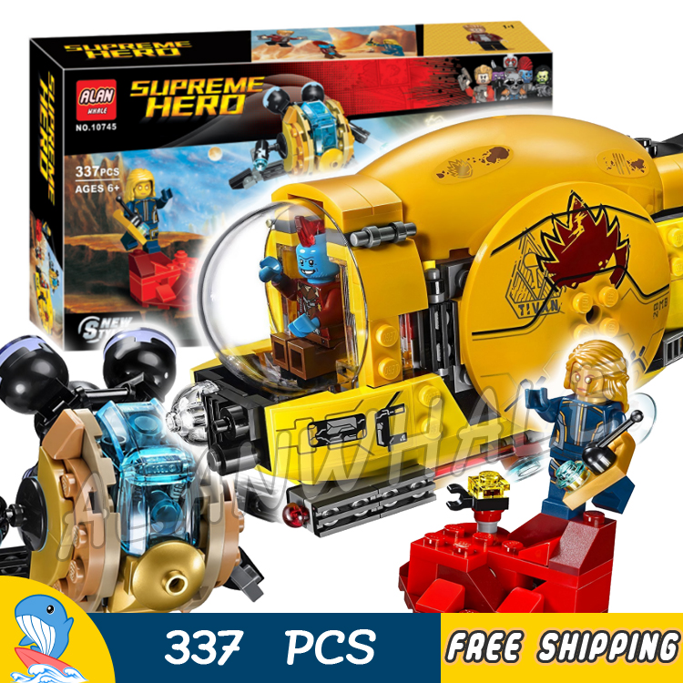 337pcs Super Heroes Guardians of the Galaxy Ayesha's Revenge 10745 Model Building Blocks Boys Toys Bricks Compatible With lego 337pcs 10745 super heroes ayesha s revenge building blocks diy educational bricks toys gift for children compatible with 76080
