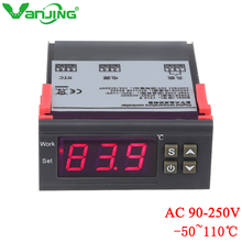 250V Digital Temperature Controller Thermostat Thermometer  Thermoregulator for incubator Relay LED 10A Heating Cooling Switch