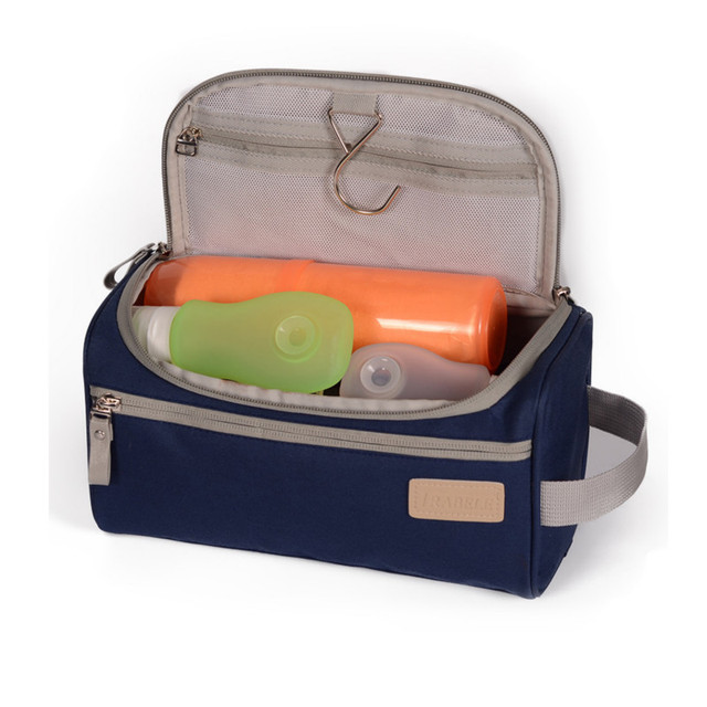 2cec021bc583 Canvas Travel Toiletry Organizer Shaving Dopp Kit Travel Cosmetic Bag  Makeup Men Handbag Casual Zipper Wash