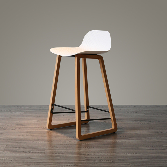 Nordic Contracted Solid Wood, Black And White Ash Back Chair Creative  Personality Is The Modern