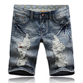 2016 new arrival summer men's casual hole Denim shorts, men's pure color shorts,plus-size 28-38