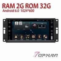Automotive Radio Tuner For JEEP Universal 7 Android 6 0 Topnavi Auto Car Vehicle GPS Navigation
