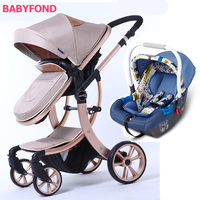 Aimile 3 in 1 stroller with the car set Christmas promotion stroller for dolls