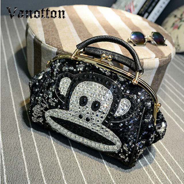 381b32a5767f Online Shop Luxury Famous Brand Women Female Sequined Bags Leather ...
