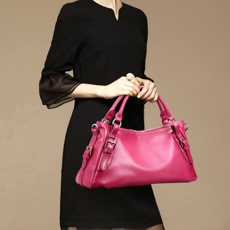 2017 Fashion Top Genuine Leather Women Handbag\Bag Casual Tote Bag Cowhide Messenger Bags\shoulder bag~Quality Guaranteed~13B252 2017 fashion all match retro split leather women bag top grade small shoulder bags multilayer mini chain women messenger bags