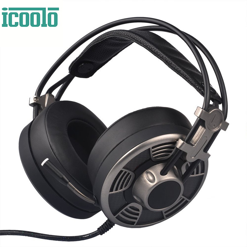 ICOOLO V10 Headsets Gaming headphones Stereo Surround Sound Headset Professional 7.1 Channel Headset with Mic for PS4 PC Laptop huhd 7 1 surround sound stereo headset 2 4ghz optical wireless gaming headset headphone for ps4 3 xbox 360 one pc tv earphones