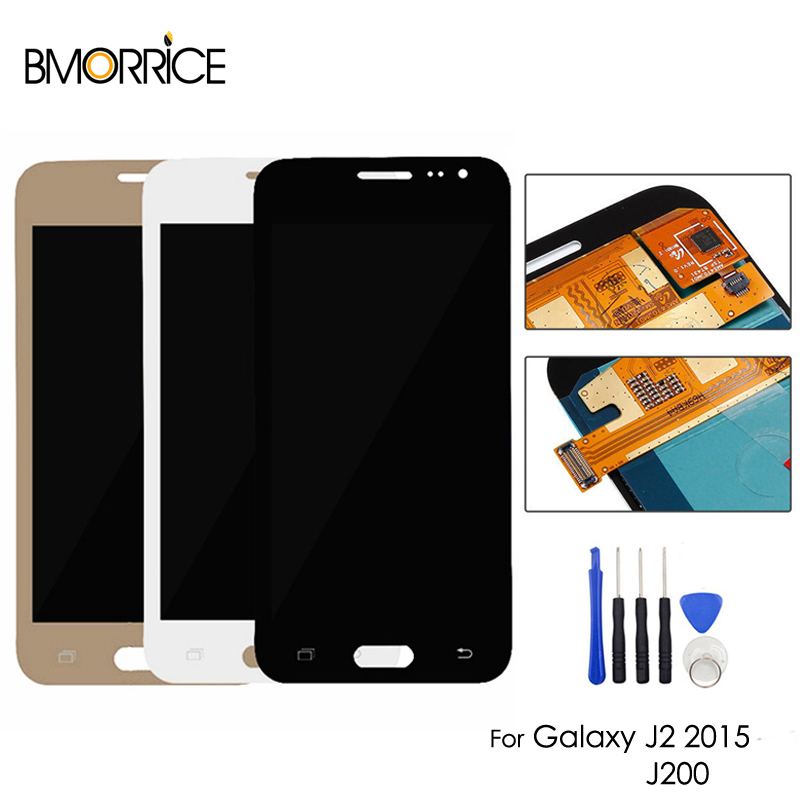 AMOLED For Samsung Galaxy J2 2015 J200 SM-J200F J200H J200Y LCD Display Touch Screen Digitizer OLED Assembly + ToolsAMOLED For Samsung Galaxy J2 2015 J200 SM-J200F J200H J200Y LCD Display Touch Screen Digitizer OLED Assembly + Tools