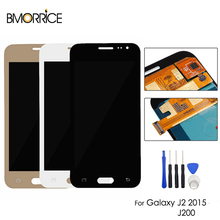 купить AMOLED For Samsung Galaxy J2 2015 J200 SM-J200F J200H J200Y LCD Display Touch Screen Digitizer OLED Assembly + Tools дешево