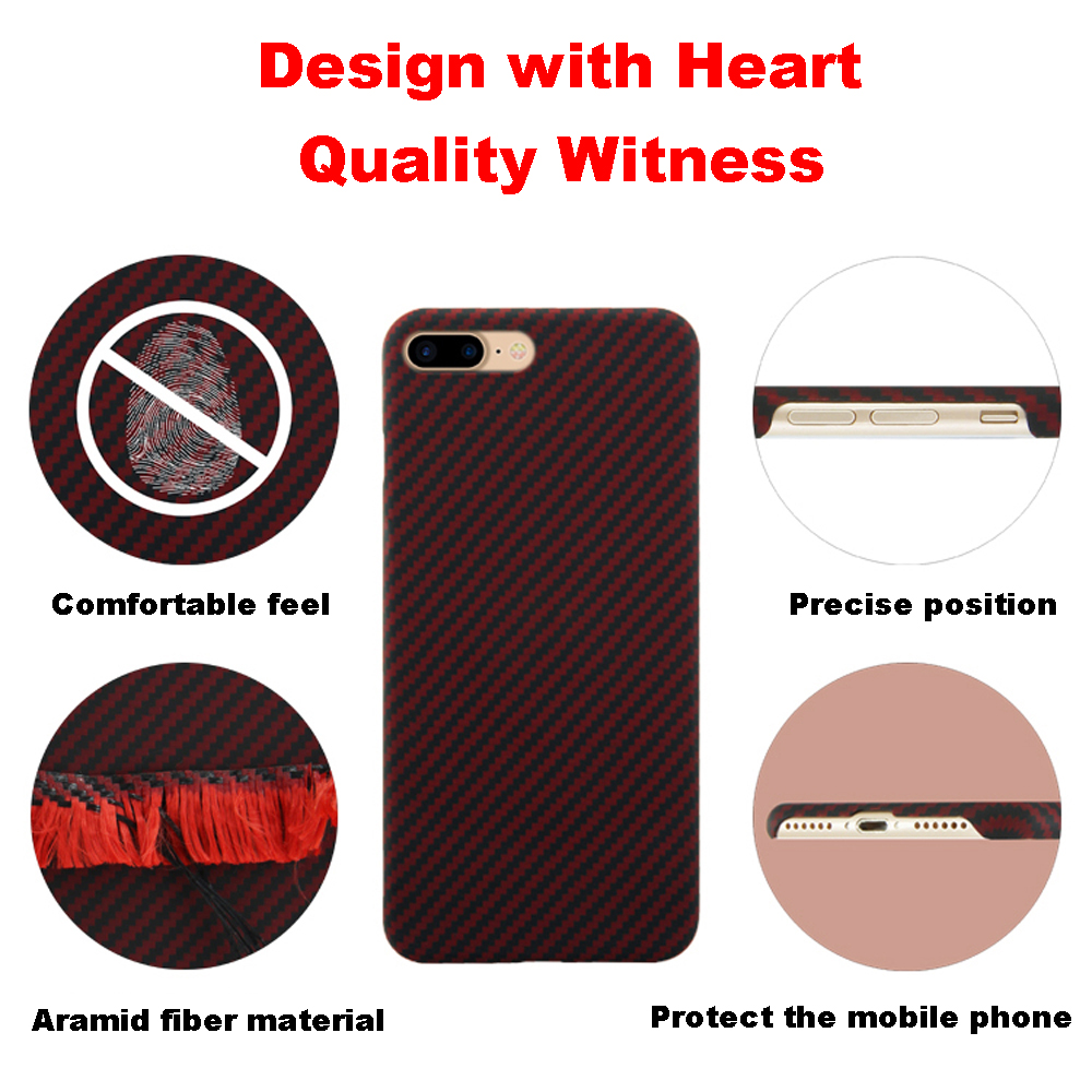 Ultra Thin Colorful Aramid Fiber Case for iPhone X Cover Matte Rubber Carbon Fiber Pattern for iPhone 7 8 7 Plus 8 Plus Case